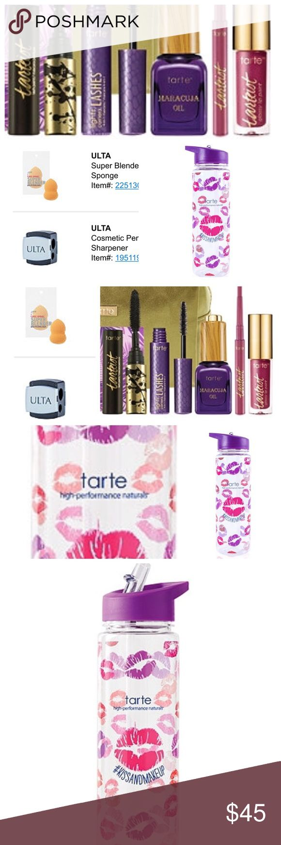 ❤️NEW❤️ TARTE bundle & Ulta bundle ❤️ All NWT Includes all in photographs. All new and Authentic. Also includes tarte makeup bag, beauty blender & sharpener. Will receive Wednesday & can upload actual photos then ❤️ Tag words: tarte bundle tarte lipstick tarte oil tarte lip liner tarte mascara tarte makeup bag beauty blender makeup sharpener Ulta bundle cute water bottle tarte too faced stila urban decay Kylie cosmetics tarte Makeup Lipstick