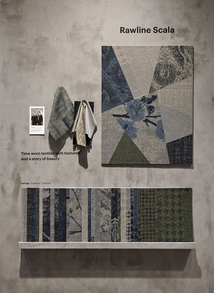 Carpet collection Rawline Scala was launched at SFF 2017. Scala combines the minimalist and artisan texture of a flat woven carpet with patterns of various scale.