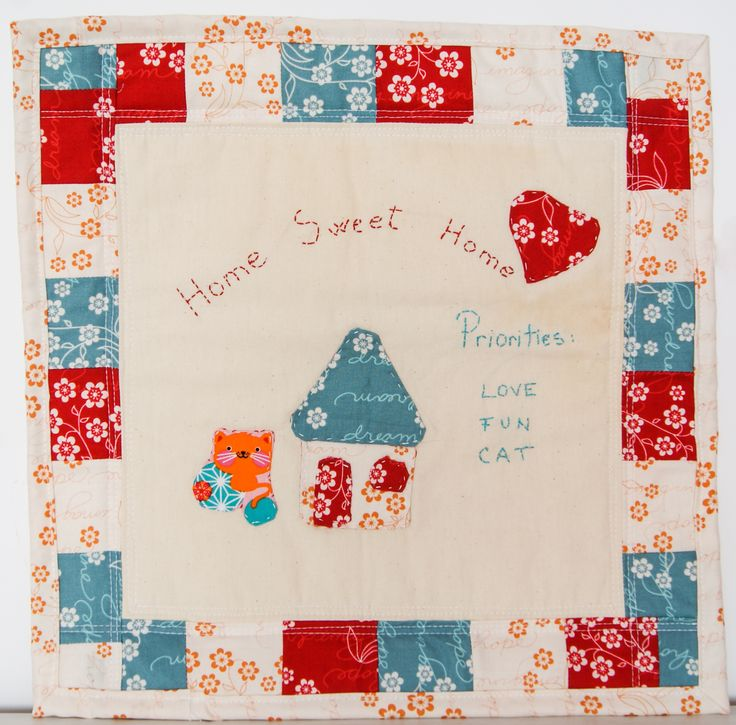 Home sweet home mini quilt