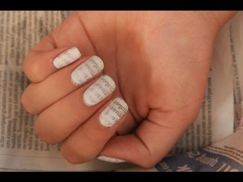 Newspaper nail art video choice image nail art and nail design ideas 30 best newspaper nail art tutorial video gallery by nded images newspaper nail art prinsesfo choice prinsesfo Image collections