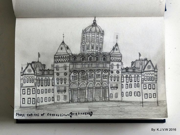 https://flic.kr/p/DFrLnT | State Capitol Of Connecticut | It´s amoung one of the most detailed pencil drawings i ever did.