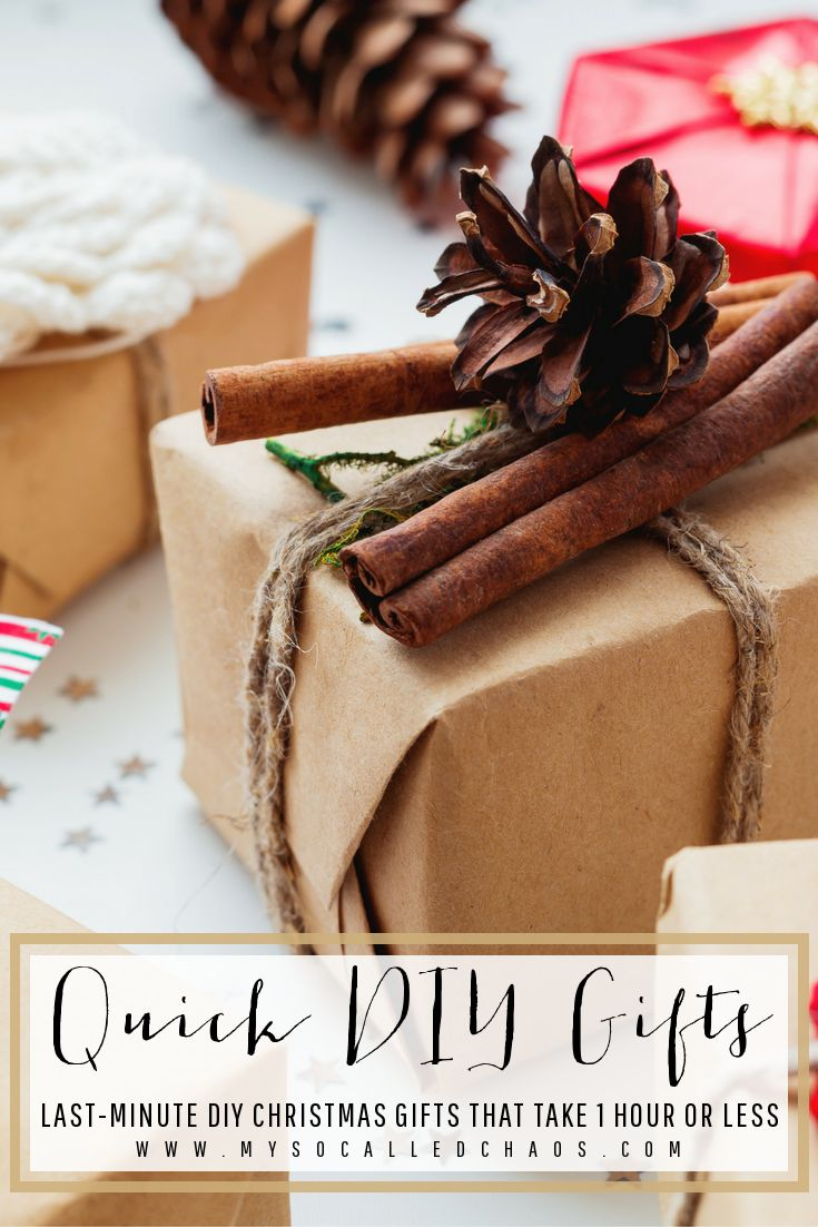 Quick DIY Christmas Gifts - Last Minute DIY Gifts They'll Love! - http://mysocalledchaos.com/2016/12/quick-diy-christmas-gifts.html