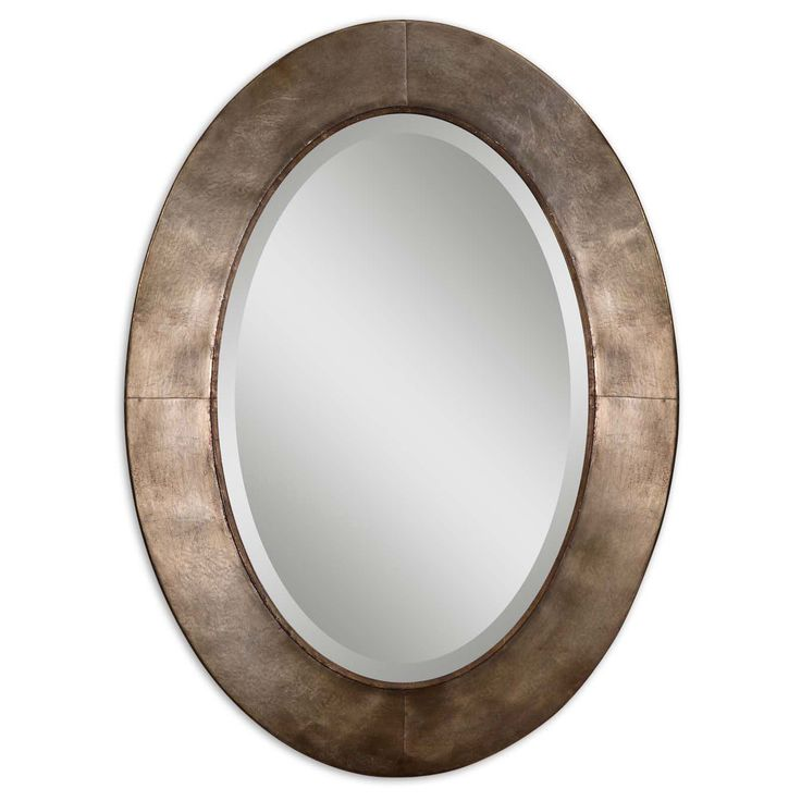 Awesome Websites Instantly and classically update any living space with this framed Kayenta oval mirror A generously