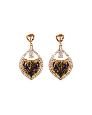 Lovely Tear Drop Earrings With Minakari Work | Rs. 1,359 | http://voylla.com