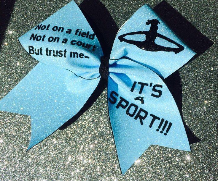 Trust Me, Its a Sport! Big Cheer Bow
