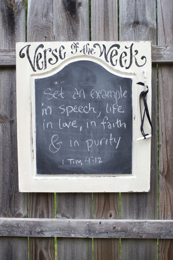 Vintage Cabinet Verse of the Week Chalkboard  Scripture by kijsa