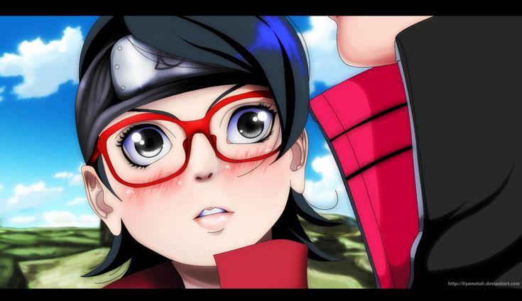 A Panel From Chapter 10 Of Boruto That Shows Us The Moment When Sarada Realises The Love She Has For Boruto Uzumaki Original Co Anime Boruto Boruto And Sarada