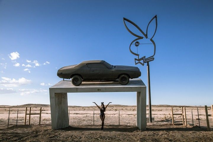 The piece, as it was unveiled by Playboy.