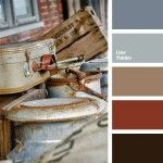 blue-gray, brown and blue, brown and dark blue-blue, color of brown suitcase…