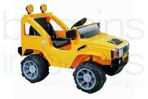 6V Hummer Styled Ride On Car - Yellow