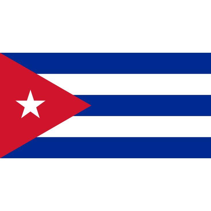 Tafelvlaggen Cuba 10x15cm   Cubaanse tafelvlag