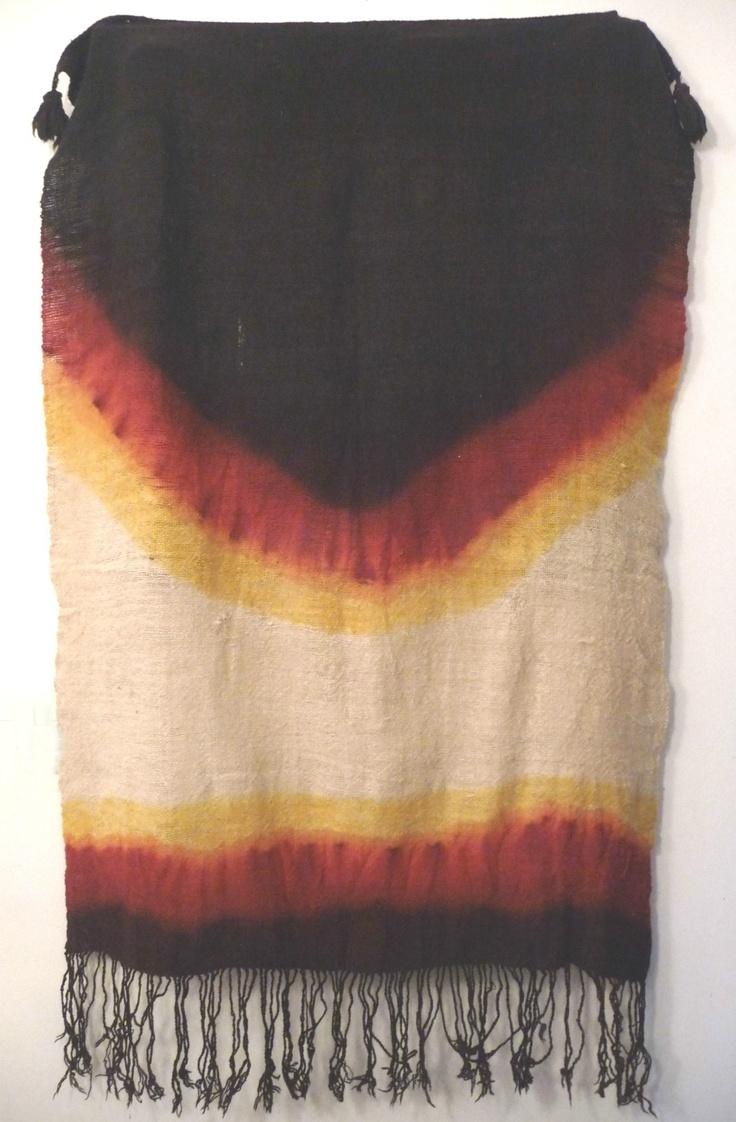 Africa | Berber head scarf ~ Adghar ~ Ida ou Zeddoute, Anti Atlas, Morocco. Wool.  20th century.