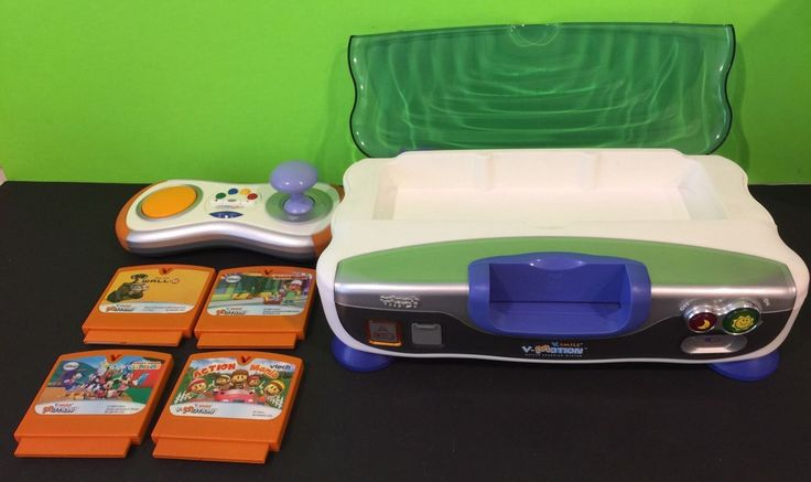This is a VTech Learning System, the VSmile (VMotion) Game Console with Remote and 4 Games. All items have been tested and work, games include Mickey Mouse Clubhouse, Handy Manny, Action Mania and Wall-E. Console requires 4 AA batteries and Remote requires 3 AAA, no batteries are included. Great game system for learning toddlers. Fun and Educational! COMBINED SHIPPING AVAILABLE ON ALL ORDERS PLEASE VIEW PICTURES FOR DETAILS | eBay!