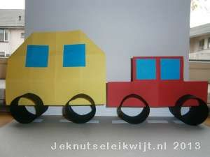 Verkeer auto met caravan