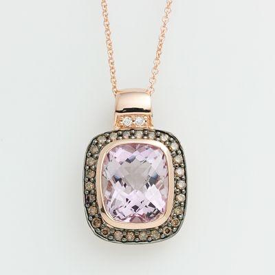 love!14K Rose, Accent Pendants, Pendants 2200 00, Pink Amethysts, Jewelry Shops, Gold Pink, Diamonds Accent, Pendants 220000, Rose Gold