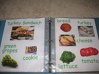 Learn to Read Recipe Book.... Love this idea but mix up the words so it's just not food words. Definitely doing this!