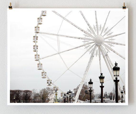 Paris Photography Ferris Wheel  French Art by TheParisPrintShop, $28.00