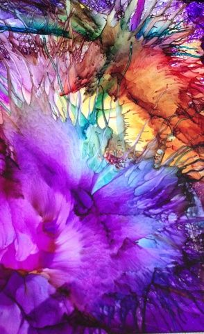 Artist Name: Mary Cay Lowber Medium Used: Alcohol Ink Substrate: Yupo Size: 5 x 7