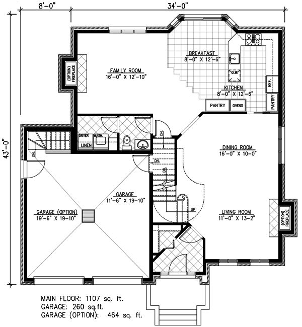 Narrow Lot Style House Plan 48097 with 4 Bed, 3 Bath, 2