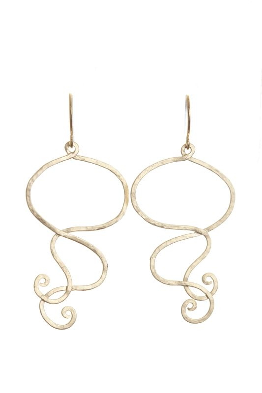 WAVEY EARRINGS- A$40.00 Matte silver/gold plated 'waves' attached to matte silver/gold plated hooks. Dimensions: approx 44mm x 27mm (without hooks)