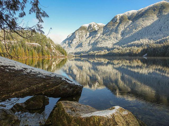 Winter scene at Buntzen Lake - so beautiful!!!