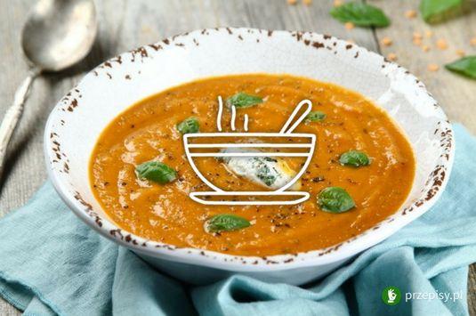 Zupa pomidorowa z soczewicą i ricottą #soup #tomato #ricotta