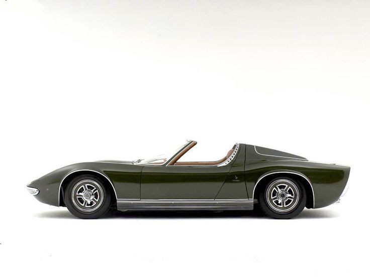 For The 1968 Brussels Motor Show, Legendary Design House Bertone Took The  Wraps Off Of The Lamborghini Miura Roadster. The Miura, One Of The Earliest  Exoti
