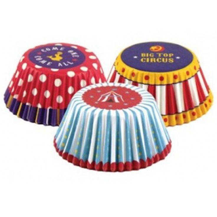 Conjunto de 75 forma de Cup Cake Circo - FOX RUM BRANDS $ 35,28