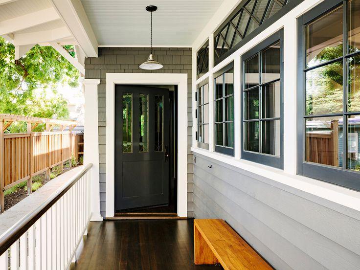 Windows, door, exterior colors
