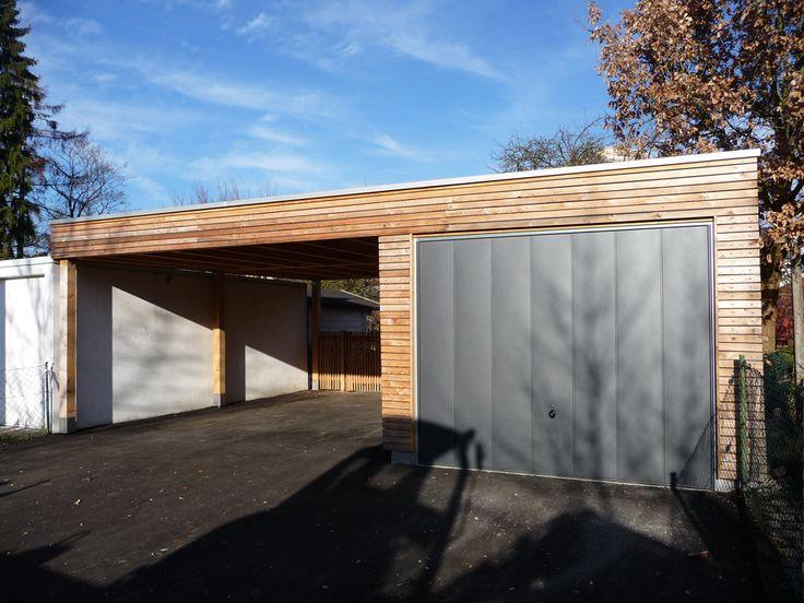 Garage mit carport aus holz  Garage - carport | Carport Garage Eingang | Pinterest