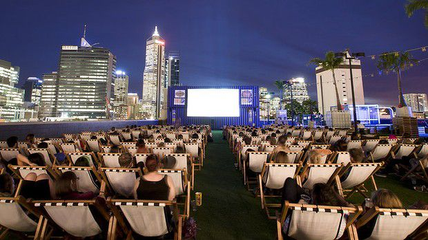 Enjoy scenic city views and a great movie night out at one of Perth's rooftop cinemas.