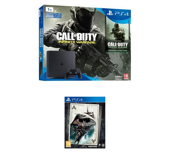 Buy PS4 1TB Console, CoD IW, Batman Return to Arkham Bundle at Argos.co.uk - Your Online Shop for PS4 consoles, PS4, Video games and consoles, Technology.