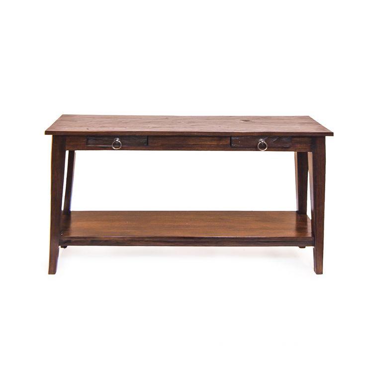 Изящный журнальный стол из массива тикового дерева. Выполнен в колониальном стиле. Верхнее покрытие - шеллак.             Метки: Деревянные столы, Журнальный стол.              Материал: Дерево.              Бренд: Teak House.              Стили: Лофт.              Цвета: Коричневый, Темно-коричневый.