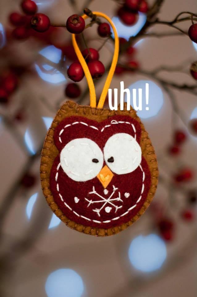 Christmas felt ornament