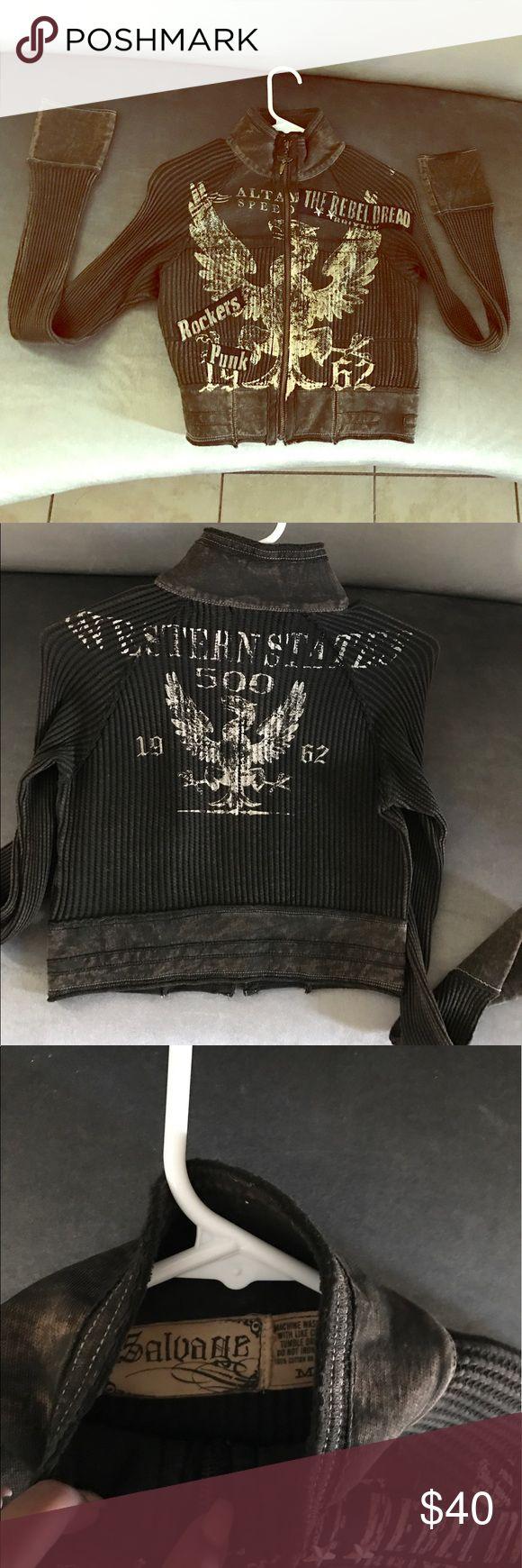 Salvage green zip up medium never used Salvage green zip up medium never used savage Sweaters Cardigans