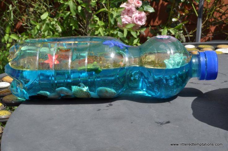 Wie macht man einen Ozean in der Flasche? Die Idee ist kinderleicht und für die Kinder ist es eine wunderschöne Spielerei. Meine Kinder haben viel Freude!