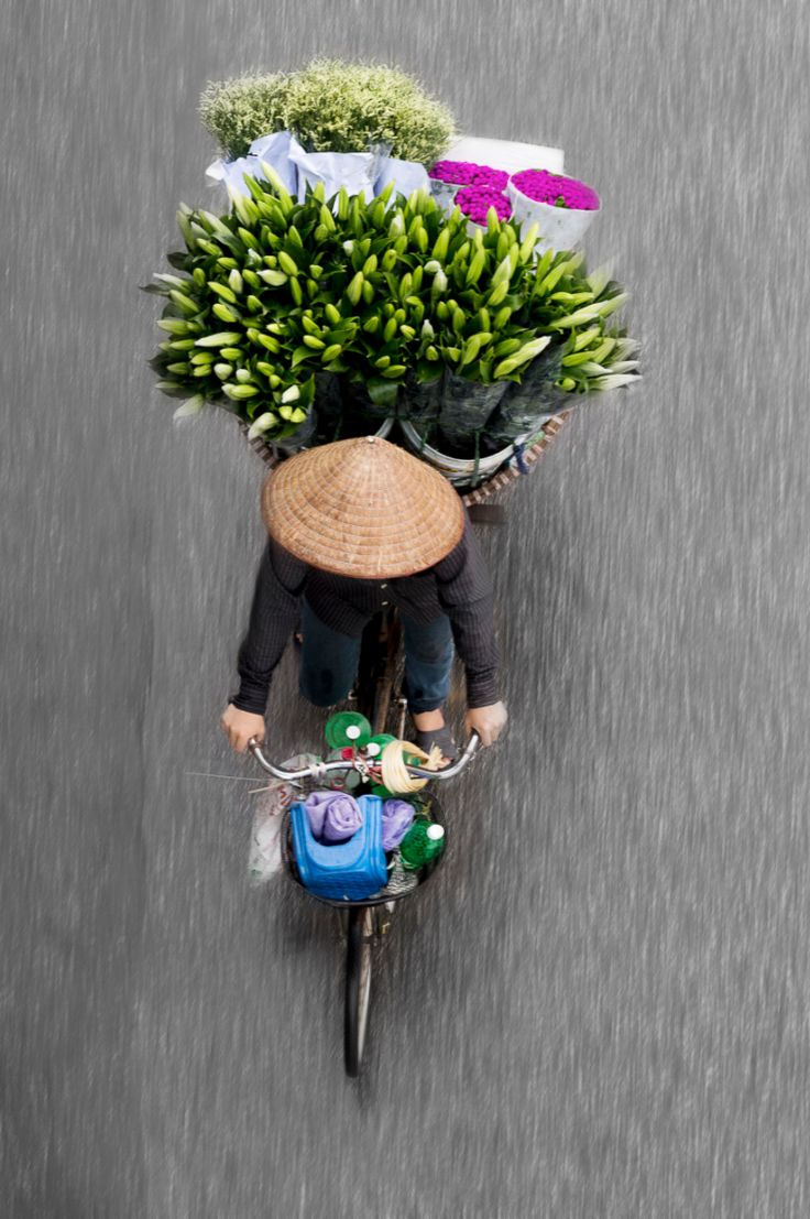 Vendors From Above in Hanoi, Vietnam. photo by Loes Heerink