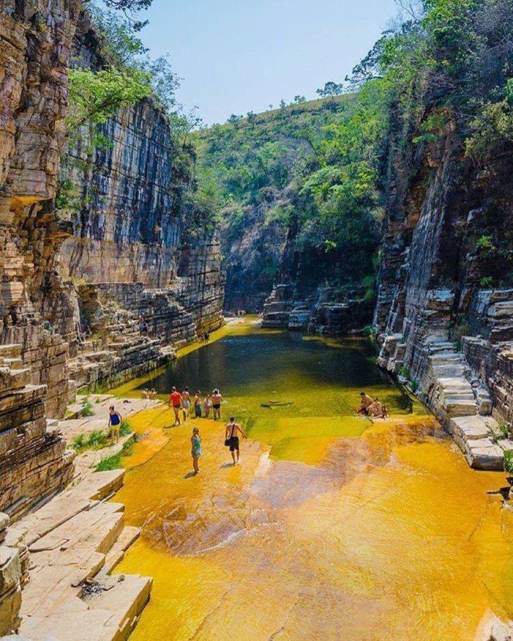 Paisagem em Capitólio, estado de Minas Gerais, Brasil.