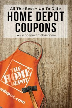 Awesome Home Depot Coupons! Current and lots of great deals on appliances from One Project Closer! Saving for later. via @JocieOPC