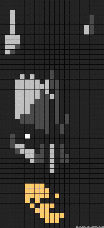 Batman perler bead pattern this on a plain black sheet- super easy and cool