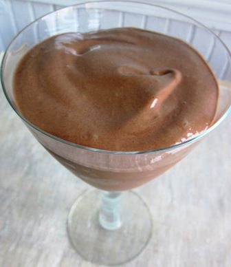 Chocolate Banana Ice Cream   1/4 cup raw cacao powder* or unsweetened cocoa powder    2 tbsp raw organic honey    1/4 cup water    4 frozen bananas* (Simply peel the bananas and pop them in your freezer before you go to bed at night. When you wake up, they'll be ready for you).