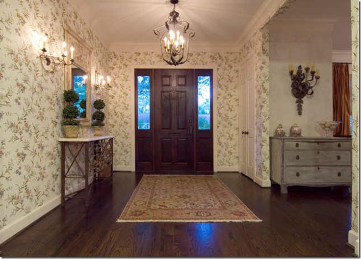 18 best images about foyers single story homes on pinterest for Foyer wallpaper ideas
