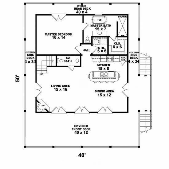 House Plan Coastal Square Feet