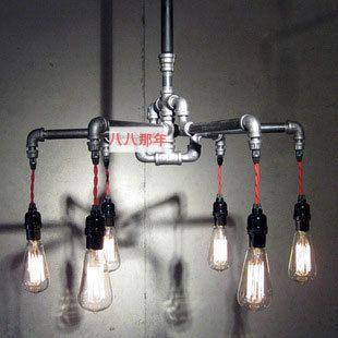 retro industriële water kroonluchter woonkamer ijzeren kroonluchter verlichting lamp edison loft