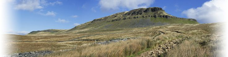 Pen-y-Ghent, one of the so calledThree Peaks of the Yorkshire Dales National Park. 2,278 ft.