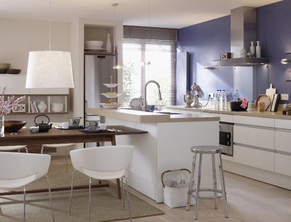 einrichten einrichtungsideen f r die wohnk che kochnische kombis und sch ner wohnen. Black Bedroom Furniture Sets. Home Design Ideas