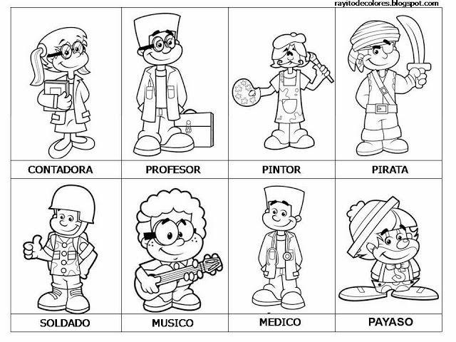 Maestra De Primaria Dibujos De Oficios Para Colorear Profesiones Oficios Y Profeciones Oficios Y Profesiones Dibujos De Profesiones