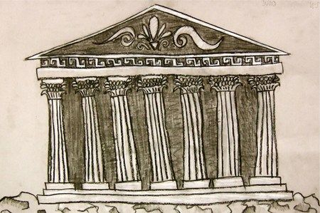 Greek Architecture Drawing Greek Architecture