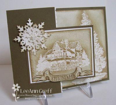 November Club Christmas Lodge                                                   Go to blog post to see card inside...really nice!