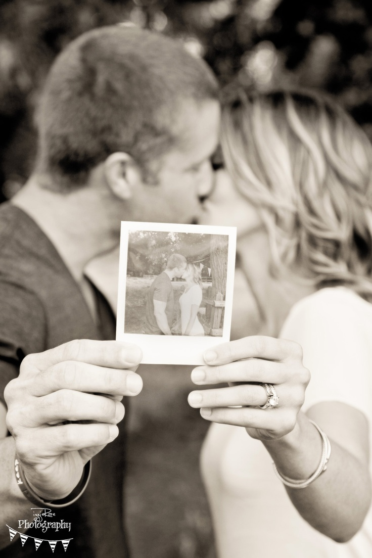Reasons to take a polaroid before your engagement shoot...also I think the contrast on the polaroid should be higher.